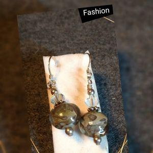 Crystal Pendant Earrings